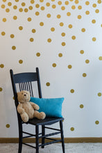Load image into Gallery viewer, Gold Wall Decal Dots (200 Decals) | Easy to Peel Easy to Stick + Safe on Painted Walls | Removable... - zingydecor