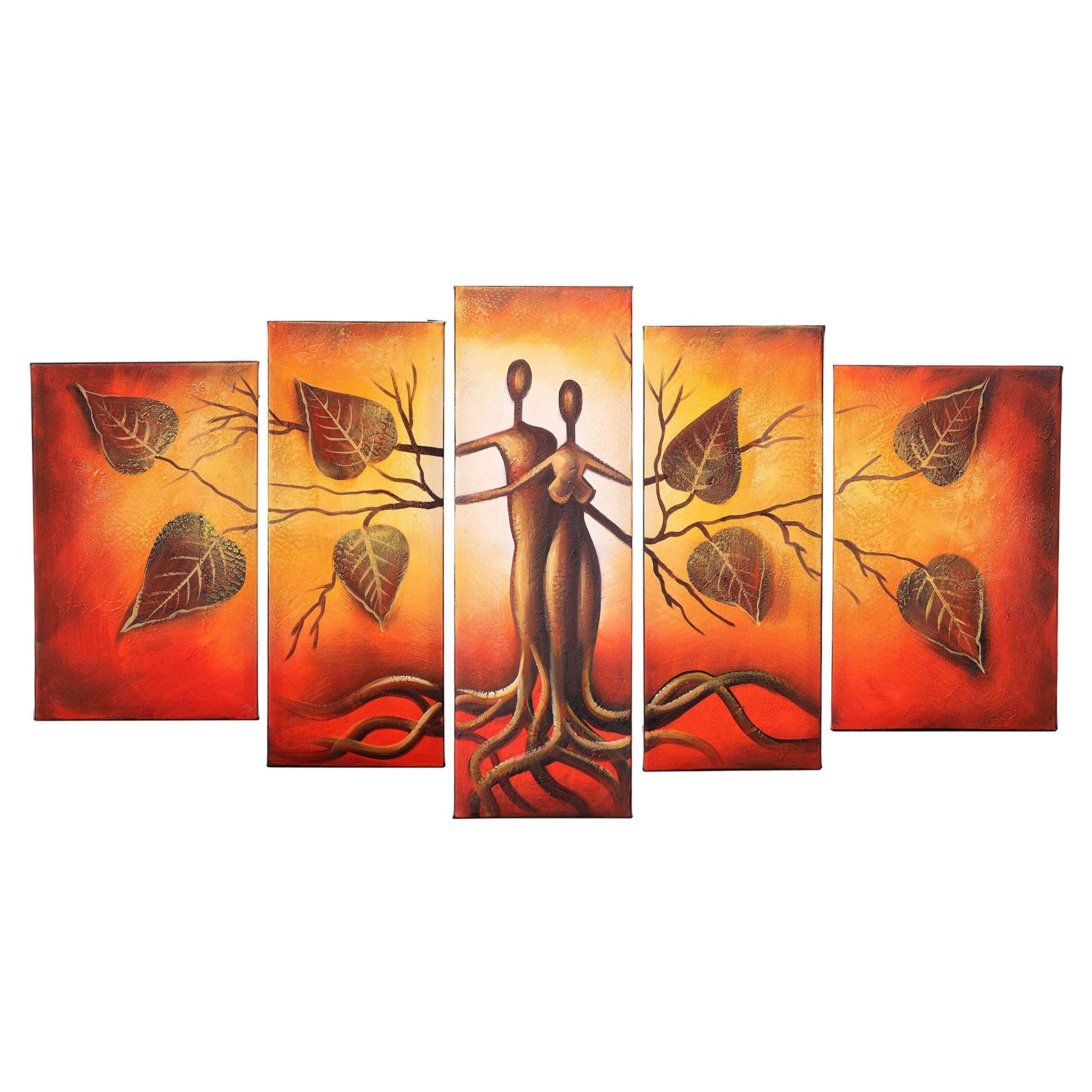Hand Painted Modern Abtract Framed Canvas Wall Art Oil Paintings Human Zingydecor