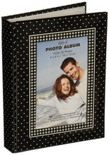 "Load image into Gallery viewer, Brag Book With Frame 36 Pocket 4""X6""-Black With White Dots - zingydecor"