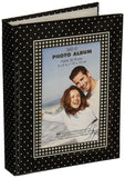 "Brag Book With Frame 36 Pocket 4""X6""-Black With White Dots"