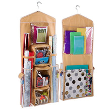 Regal Bazaar Double-Sided Hanging Gift Bag and Gift Wrap Organizer (White) - zingydecor