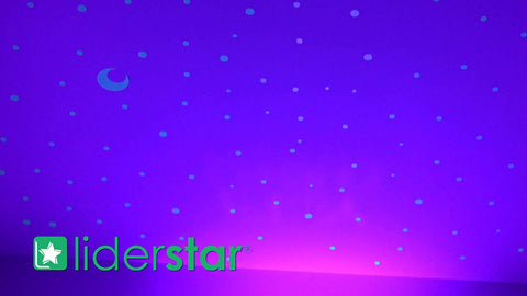 Image of Glow In The Dark Stars Wall Stickers, 252 Dots and Moon for Starry Sky, Perfect For Kids Bedding Room or Birthday Gift, Beautiful Wall Decals by LIDERSTAR, Delight The One You Love.