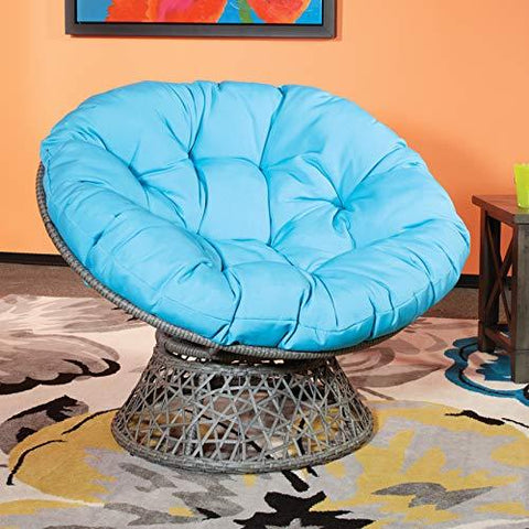 Image of OSP Designs  Papasan Chair, Black