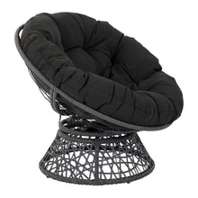 Load image into Gallery viewer, OSP Designs  Papasan Chair, Black - zingydecor