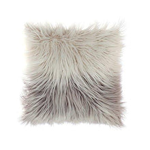 Load image into Gallery viewer, OJIA Deluxe Home Decorative Super Soft Plush Mongolian Faux Fur Throw Pillow Cover Cushion Case 18 x 18 Inch, Pink - zingydecor
