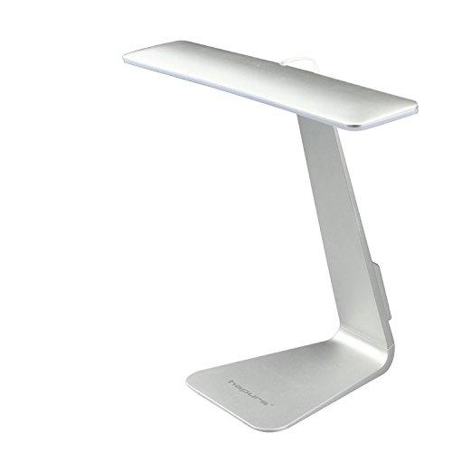 LED Desk Lamp, Hapurs 2 in 1 (Stand on Own & Clip Everywhere) Gooseneck Tube Touch Sensitive LED USB Portable Rechargeable Dimmable Portable Lightweight Table Reading Study Clip Lamp Light