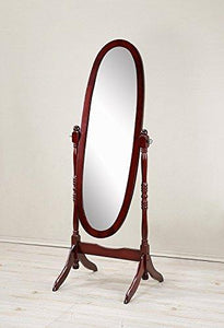 Crown Mark Cheval Mirror, Brown - zingydecor