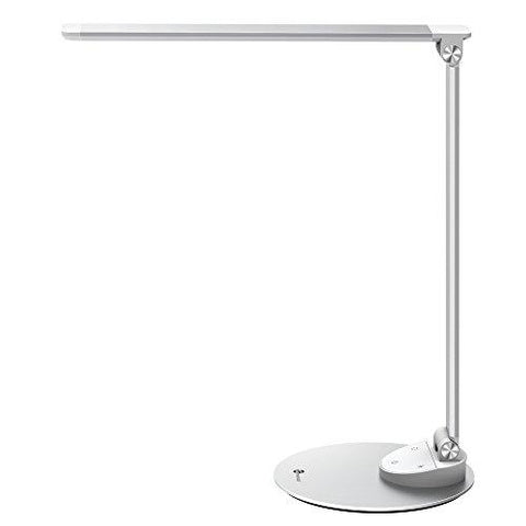 Image of TaoTronics LED Desk Lamp with USB Charging Port, Eye- care Dimmable Lamp, Metal, Glare-Free, 5 Color Temperatures with 5 Brightness Levels, Touch Control, Memory Function