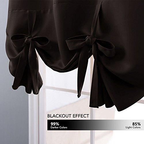 Nicetown Thermal Insulated Grey Blackout Curtain Tie Up Shade For Sm Zingydecor,Light Chocolate Brown Hair Color With Caramel Highlights