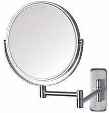 Jerdon JP7506CF 8-Inch Wall Mount Makeup Mirror with 5x Magnification, Chrome Finish