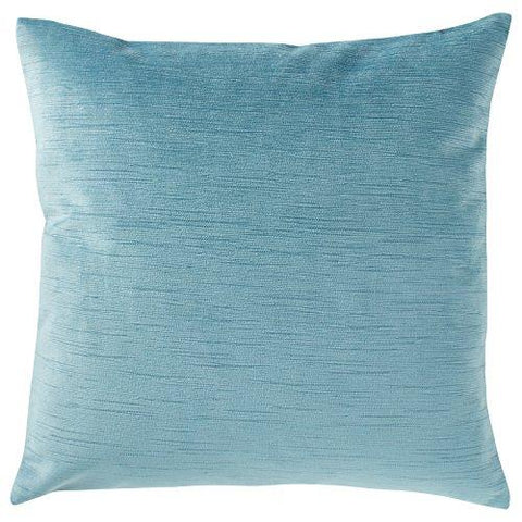 "Image of Stone & Beam Striated Velvet/Linen-Look Pillow, 17"" x 17"", Charcoal"