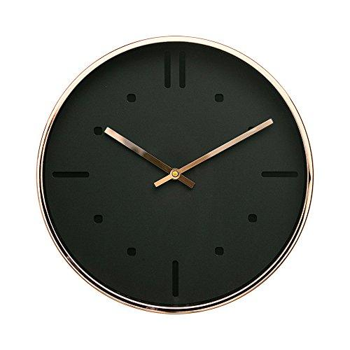 "Luxury Modern 12"" Silent Non-Ticking Wall Clock with Rose Gold Frame (Feminine White)"