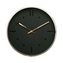 "Load image into Gallery viewer, Luxury Modern 12"" Silent Non-Ticking Wall Clock with Rose Gold Frame (Feminine White) - zingydecor"