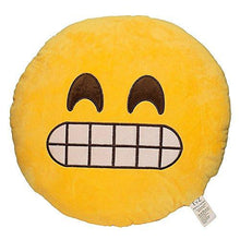 Load image into Gallery viewer, EvZ 32cm Emoji Smiley Emoticon Yellow Round Cushion Stuffed Plush Soft Pillow - zingydecor