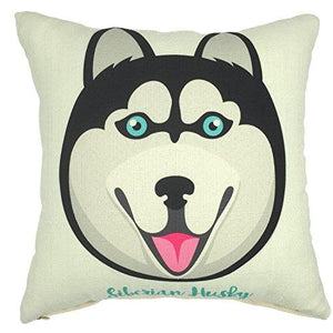 YOUR SMILE Cat Cotton Linen Square Decorative Throw Pillow Case Cushion Cover 18x18 Inch - zingydecor