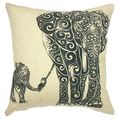 Image of YOUR SMILE Cat Cotton Linen Square Decorative Throw Pillow Case Cushion Cover 18x18 Inch