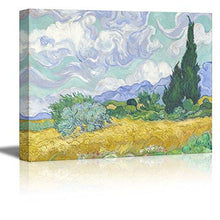 "Load image into Gallery viewer, Wall26 Starry Night by Vincent Van Gogh - Canvas Wall Art Modern Home Decor Bedroom and Living Room Decorations Oil Painting Reproduction - 16"" x 20"" - zingydecor"