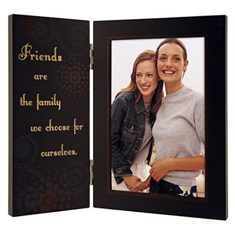 Malden International Designs Friends are the Family We Choose for Ourselves Hinged Picture Frame, 4x6, Brown