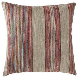 "Rivet Bohemian Stripe Pillow, 17"" x 17"", Fuschia - zingydecor"