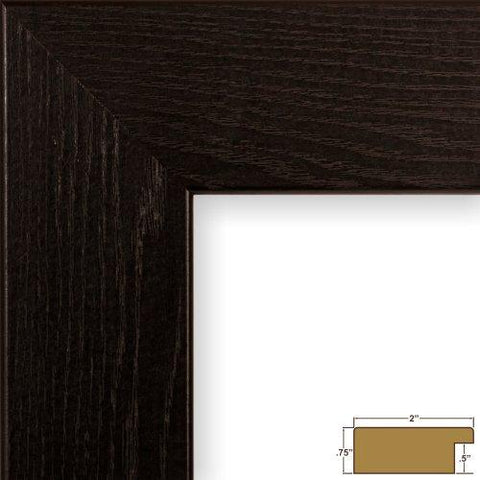Image of Craig Frames FM74DKW 11 by 14-Inch Rustic Photo Frame, Smooth Grain Finish, 2-Inch Wide, Dark Brown
