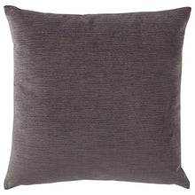 "Load image into Gallery viewer, Stone & Beam Striated Velvet/Linen-Look Pillow, 17"" x 17"", Charcoal - zingydecor"