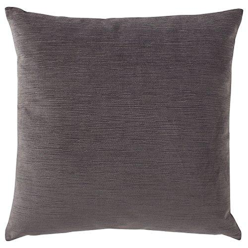Stone & Beam Striated Velvet/Linen-Look Pillow, 17