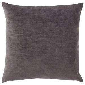 "Stone & Beam Striated Velvet/Linen-Look Pillow, 17"" x 17"", Charcoal - zingydecor"