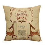 "Ikevan Vintage Christmas Sofa Bed Home Decor Pillow Case Cushion Cover(18"" x 18"") (05)"