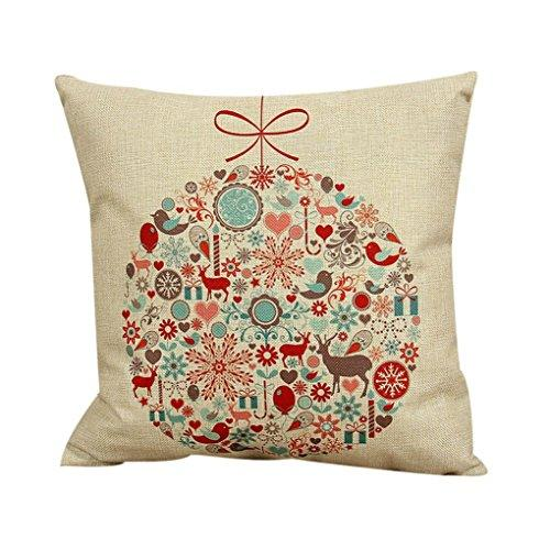 Ikevan Vintage Christmas Sofa Bed Home Decor Pillow Case Cushion Cover(18