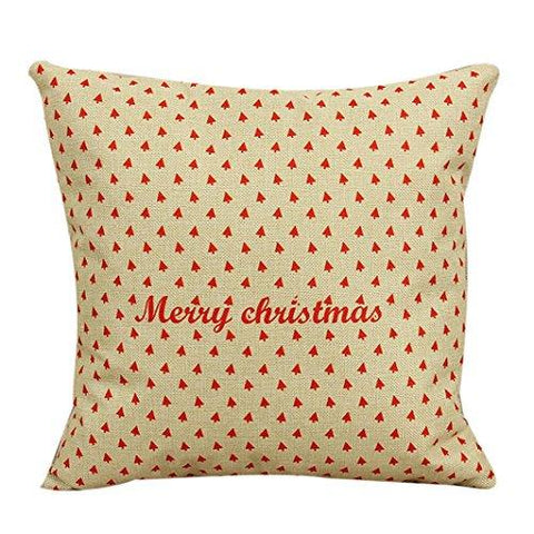 "Image of Ikevan Vintage Christmas Sofa Bed Home Decor Pillow Case Cushion Cover(18"" x 18"") (05)"