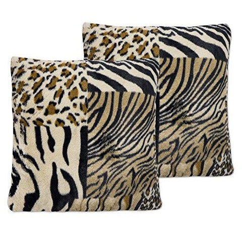 Image of Sweet Home Collection Plush Pillow Faux Fur Soft and Comfy Throw Pillow (2 Pack)