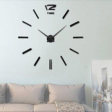 Vangold Large DIY Frameless Wall Clock Modern Mute 3D Wall Clock Mirror Stickers Home Office Decorations Gift ( 2-Year Warranty) - zingydecor