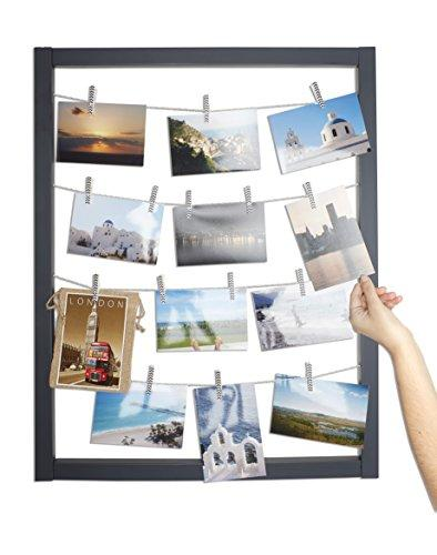 Reimagine Hanging Photo Display- Wood Wall Picture Frame Collage for ...