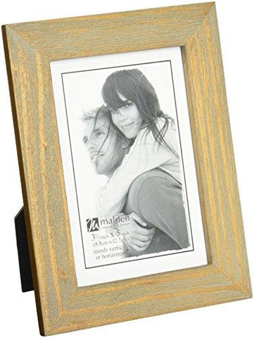 Malden International Designs Linear Classic Wood Picture Frame, 5x7, Walnut