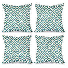 Load image into Gallery viewer, Top Finel Durable Cotton Linen Square Decorative Throw Pillows Cushion Covers Cases Pillowcases For Sofa 18 x18 inch Set of 6 -Series