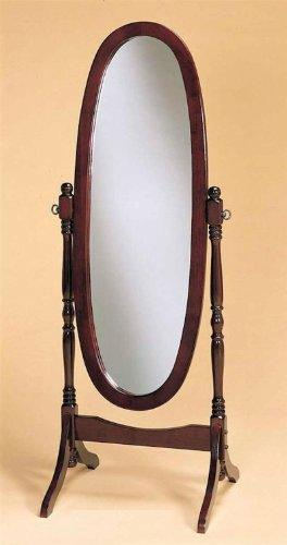 Swivel Full Length Wood Cheval Floor Mirror, Cherry Finish New - zingydecor