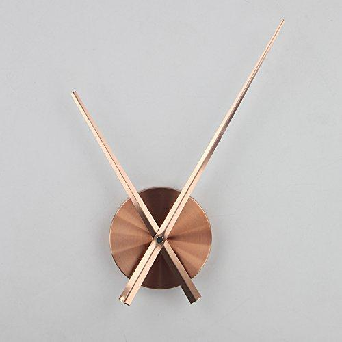 3D Clock Hands, Timelike DIY Large Clock Hands Needles Wall Clocks 3D Home Art Decor Quartz Clock Mechanism Accessories (Black)