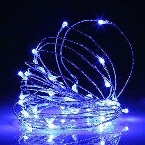 Ehome 100 LED 33ft/10m Starry Fairy String Light, Waterproof Decorative Copper Wire Lights for Indoor Outdoor, Bedroom Festival Christmas Wedding Party Patio Window with USB Interface (Warm white) - zingydecor