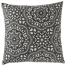 "Load image into Gallery viewer, Stone & Beam Medallion Pillow, 17"" x 17"", Aqua - zingydecor"