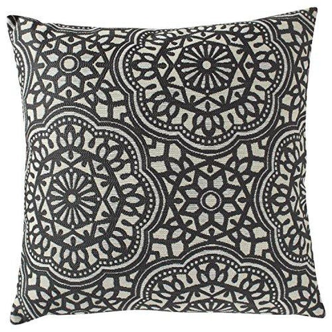 "Image of Stone & Beam Medallion Pillow, 17"" x 17"", Aqua"