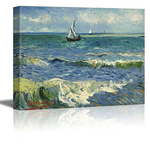 "Wall26 Starry Night by Vincent Van Gogh - Canvas Wall Art Modern Home Decor Bedroom and Living Room Decorations Oil Painting Reproduction - 16"" x 20"" - zingydecor"