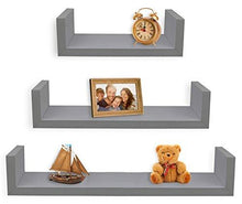 Load image into Gallery viewer, Greenco Set of 3 Floating U Shelves - zingydecor