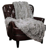"Chanasya Super Soft Long Shaggy Chic Fuzzy Fur Faux Fur Warm Elegant Cozy With Fluffy Sherpa Off White Microfiber Throw Blanket (50"" x 65"") - Solid Shaggy Off White"