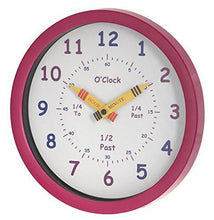 Unity Henley Children's Learn the Time Wall Clock, 10-Inch, Blue