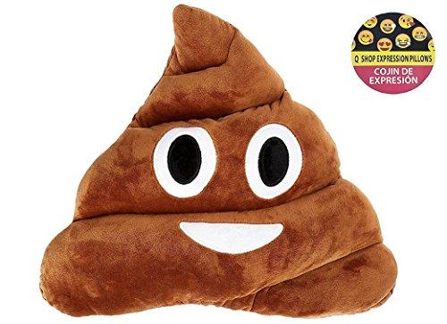 Qs 11x12 Poop Poo Emoji Emoticon Cushion Pillow Brown Stuffed USA Seller (Poo Face) - zingydecor