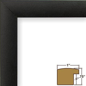 Craig Frames 1WB3BK 20 by 27-Inch Wall Decor Frame, Smooth Finish, 1-Inch Wide, Matte Black - zingydecor