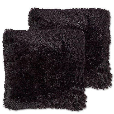 Sweet Home Collection Plush Pillow Faux Fur Soft and Comfy Throw Pillow (2 Pack)