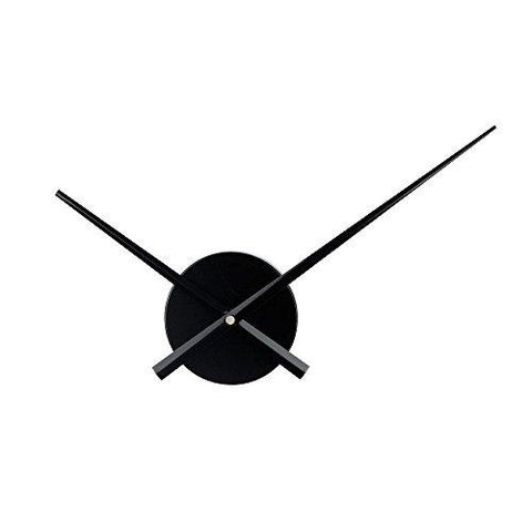 Image of 3D Clock Hands, Timelike DIY Large Clock Hands Needles Wall Clocks 3D Home Art Decor Quartz Clock Mechanism Accessories (Black)