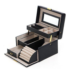 Load image into Gallery viewer, SONGMICS Girls Jewelry Box Lockable Jewelry Organizer Mirrored Storage Case Purple