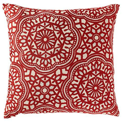 "Stone & Beam Medallion Pillow, 17"" x 17"", Aqua"